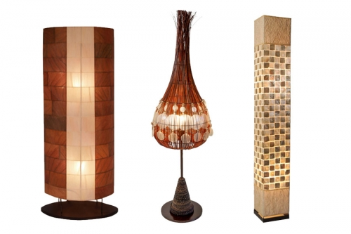 Floor Lamps made of natural materials