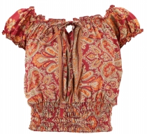 Blusentop Boho chic, Hippie Bluse - rostrot