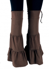 Goa, psytrance leg warmers, gaiters, arm warmers - coffee
