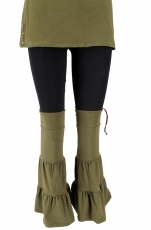Goa, Psytrance leg warmers, gaiters, arm warmers - olive green