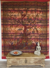 Wall hanging, bedspread Tree of life - red