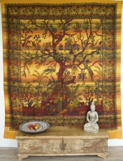 Wall hanging, bedspread Tree of life - yellow