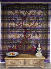 Wall hanging, bedspread Tree of life - violet