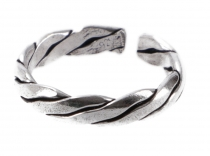 Silver toe ring - Meander 5
