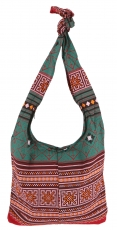 Sadhu Bag, Boho Shoulder Bag, Hippie Bag - stainless/green