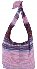Sadhu Bag, Boho shoulder bag, Hippie bag - pink/blue