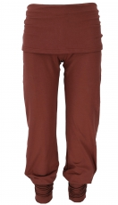 Yoga pants with mini skirt in organic quality - date brown