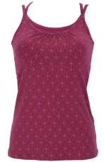 Yoga-Top Organic Cotton Flower of life - paprika