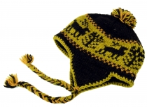 Woollen cap with earflaps, Norwegian cap - moss green - 8