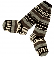 Handknitted sheep wool socks, Nepal socks 38/39