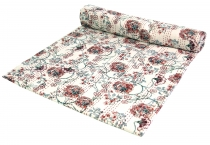 Cotton quilt, Boho bedspread, bedspread with floral pattern - Des..