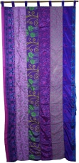 curtain (1 pc.) curtain made of patchwork fabric, unique - purple..