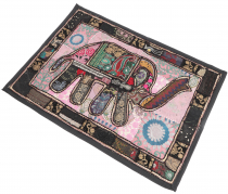 Oriental elephant table runner, wall hanging, single piece 95*65 ..