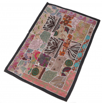 Oriental table runner, wall hanging, single piece 90*65 cm - moti..