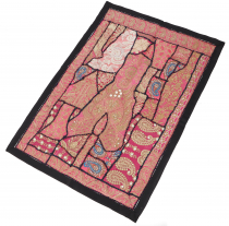 Indian tapestry patchwork wall hanging, single piece 90*65 cm - P..
