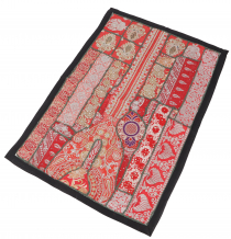 Indian tapestry patchwork wall hanging, single piece 90*65 cm