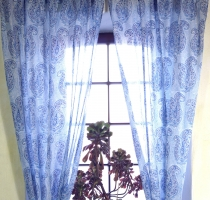 Curtain, curtain of thin cotton (1 pair of curtains, drapes) - pa..