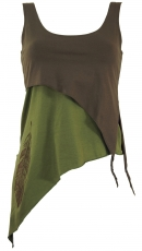 Festival Elves Top, Lagentop, Pixitop - taupe