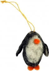 felt pendant, felt decoration, tree hanging - Penguin