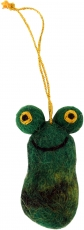 felt pendant, felt decoration, tree curtain - frog