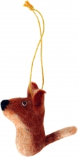 felt pendant, tree curtain - fox
