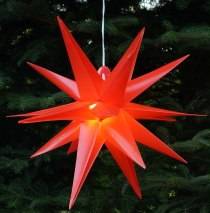 3D outdoor star Kaspar, Ø 55 cm, poinsettia, folding star with 18..