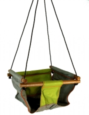 Baby and toddler hanging seat, swing seat - green