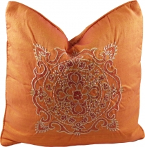 Embroidered cushion cover, pillowcase - Mandala Bali orange