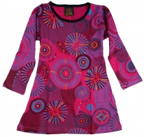Embroidered girls tunic, ethnic mini dress, children dress - pink