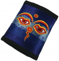 embroidered wallet Buddha Eye