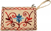 Embroidered cashmere wallet - 3