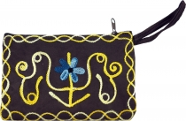 Embroidered cashmere wallet - 7