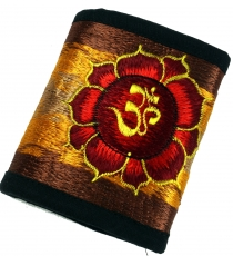 embroidered wallet - Lotus OM red