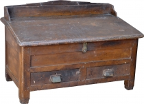Bottom writing desk, small writing desk with many compartments - ..