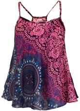 Boho top with straps, summer top, ladies top, beach top - fuchsia