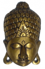 Buddha mask gold, wall decoration, Ethno wall decoration from bal..