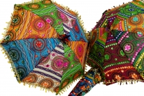Colourful cotton sunshade from India