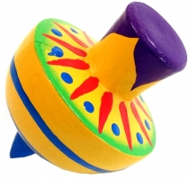Colourful wooden spinning top wide - Model 2