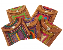 colorful leather wallet Rajastan