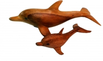 Decoration dolphin, carved in 2 sizes