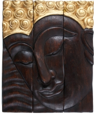 Threepart Buddha mural 25*30 cm left looking - Design 6