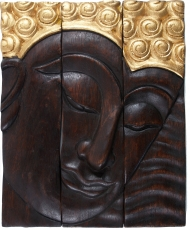 Threepart Buddha mural 25*30 cm right-looking - Design 5