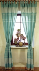 Curtain, curtain made of coarsely woven soft cotton (1 pair of cu..