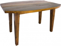 Dining table, kitchen table made of recycled teak wood