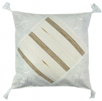 Ethno cushion cover, country house cushion cover, cotton white - ..
