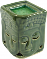 Exotic fragrance lamp, aroma lamp ceramic Buddha - green