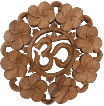 Carved mural Decoration wall relief - OM flowers
