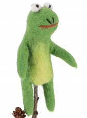 Handmade finger puppet made of felt - Frog 2