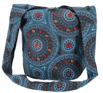 Sadhu Bag, Ethno Shopper, embroidered shoulder bag - petrol