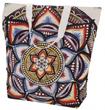 Mirror Shopper bag, shopping bag, beach bag - Mandala